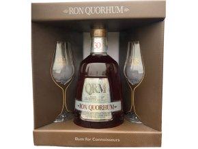 Quorhum 30YO - v dárkovém balení se 2 skleničkama 40% 0,7l