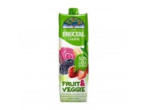 fruit veggie jahody banany cervena repa a ostruziny fructal 1000ml