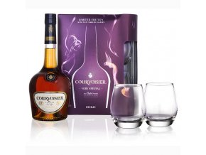 Courvoisier VS 0,7 l s 2 skleničkami