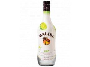Malibu Lime Caribbean Rum 750ml Bottle
