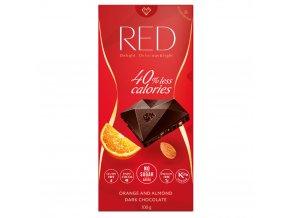red horka cokolada s pomerancovou prichuti a mandlemi se snienym obsahem kalorii bez pridaneho cukru 100g 2355856 1000x1000 fit