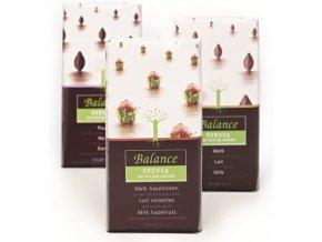 Balance mléčná s lískovými oříšky, bez přidaného cukru 85g
