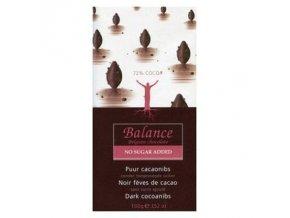 Balance 72% hořká čokoláda s kakaovými boby bez přidaného cukru 100g