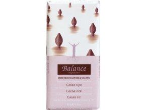Balance Mléčná čokoláda z rýžového mléka 85g