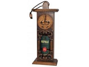 Whisky Nestville Blended 3YO - s dřevěnými hodinami 40% 0,7l