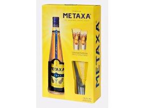 Metaxa 5* v krabičce s 2 skleničkami 0,7 l