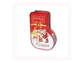 Vánoční botička červená sypaný čaj černý Impra 60 g