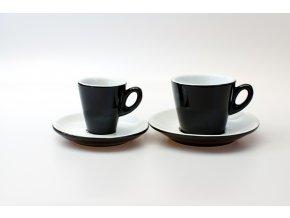 Šálek s podšálkem Caffe nera Lillium 60 ml