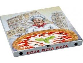 Krabice na Pizzu 33x33x3cm 100 ks