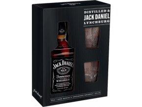 Jack Daniels dárkové balení 0,7 l + 2x sklenička
