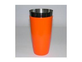 Koktejlový shaker pro barmany vinyl oranžový 0,7 l