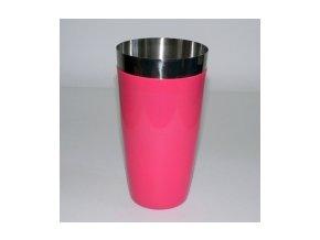 Koktejlový shaker pro barmany vinyl růžový 0,7 l