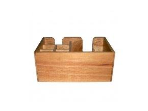 Dřevěný zásobník na brčka a ubrousky