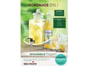 Monin Limonade pureé Set 12x 1 l s nádobou