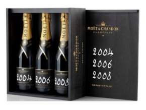 Moet   Chandon Grand Vintage Collection 2004+2006+2008Moet   Chandon Grand Vintage Collection 2004+2006+2008 3x 0,75 l
