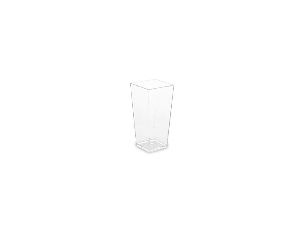 Fingerfood pohárik hranatý, číry, 85 ml