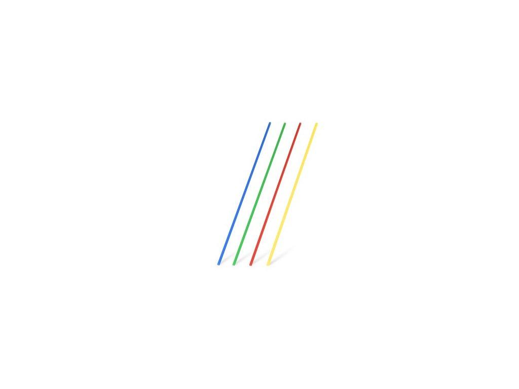 Slamka rovná farebný mix