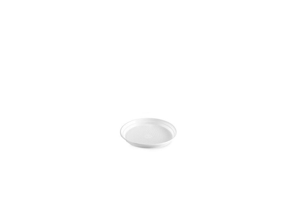 Tanier biely, (PP)  Ø 22 cm