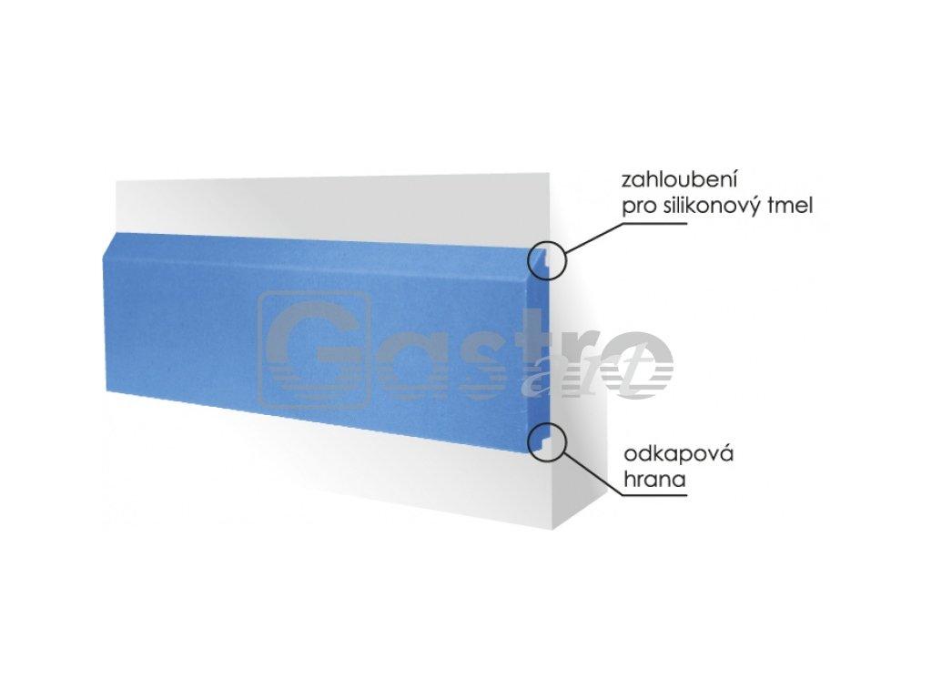 Ostění ochranné 2000x150x20 mm - modrá