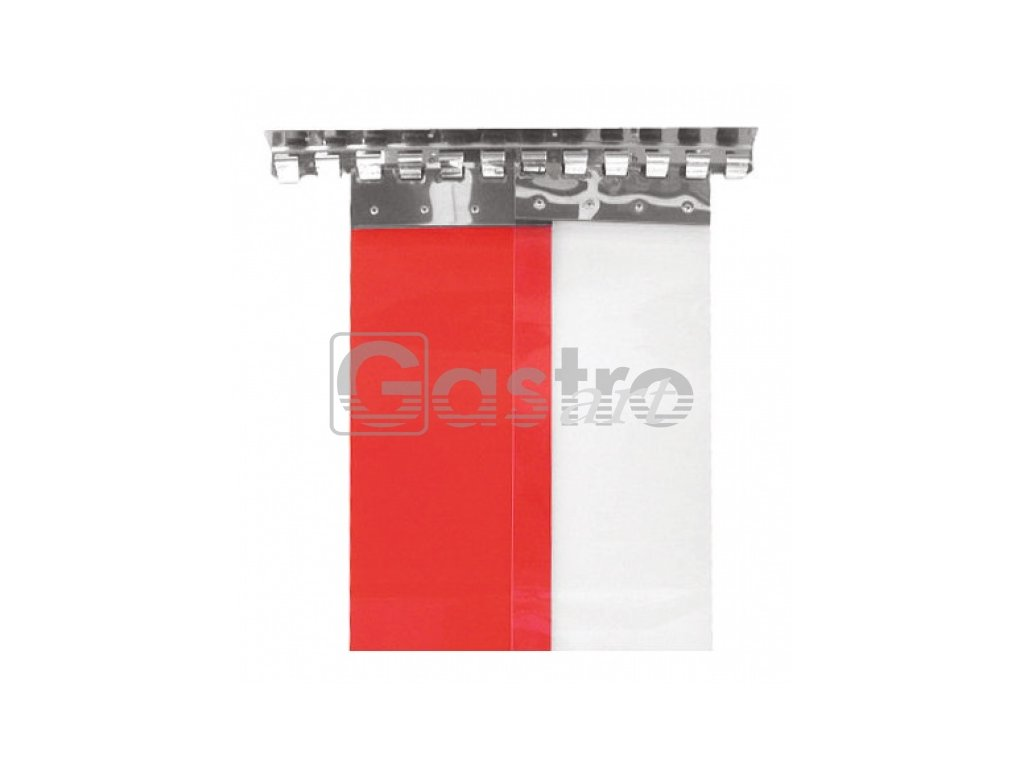 Pásek PVC červený 200/2 mm