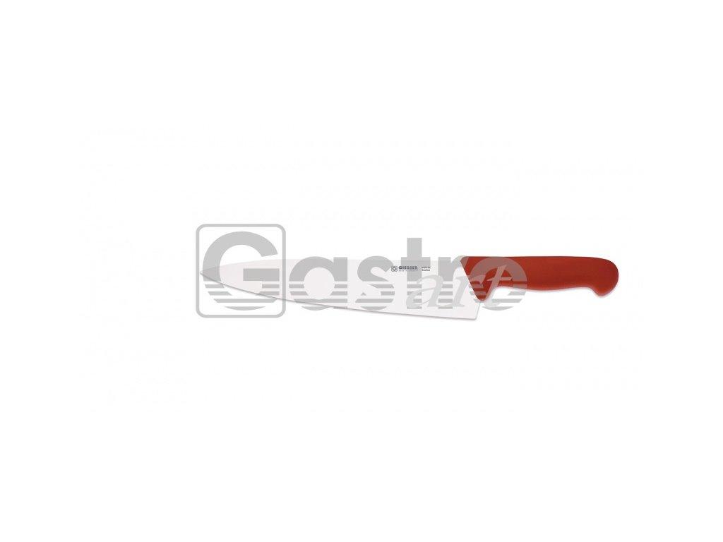 Nůž kuchařský 26 cm - červený