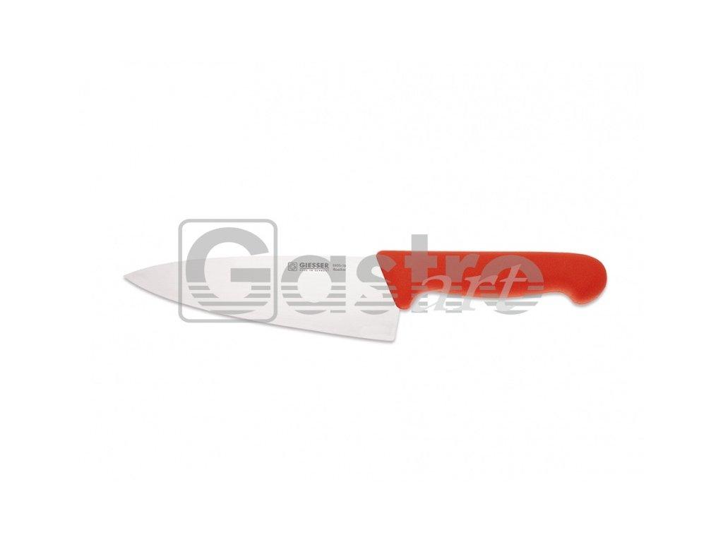 Nůž kuchařský 20 cm - červený