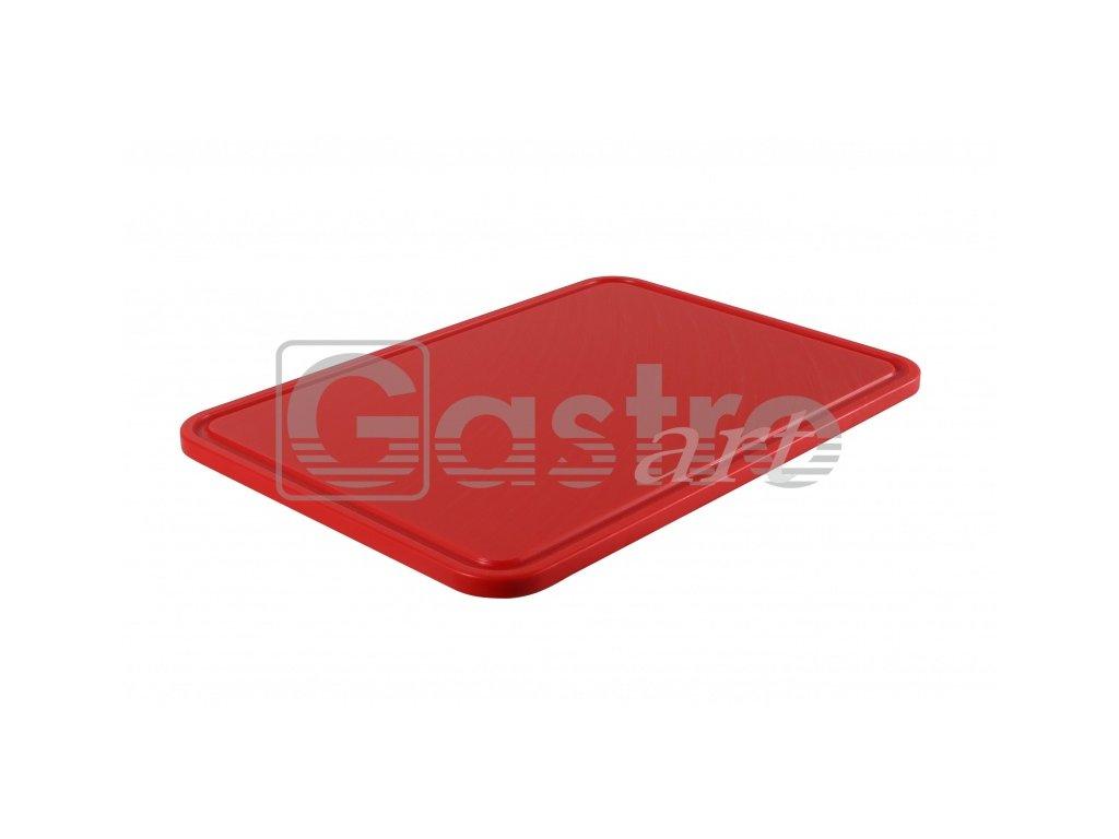 PE deska 500x350x15 -  červená