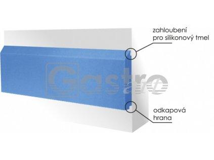 Ostění ochranné 2000x100x20 mm - bílá