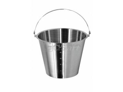 Vědro bez podstavy (Ø250 mm, 7 l) nerez ECO