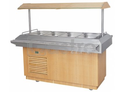 Chladící salátový bar 4xGN1/1 - Dub