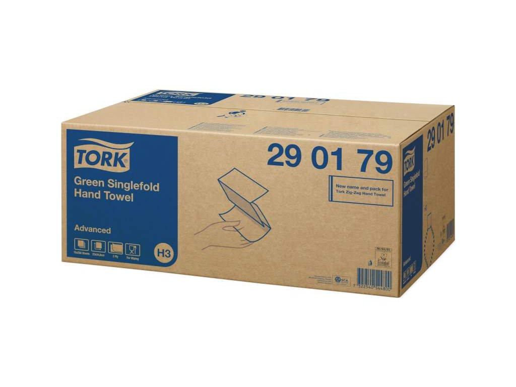 TORK H3 papírové ručníky zelené 2-vrstvé, 15x250ks
