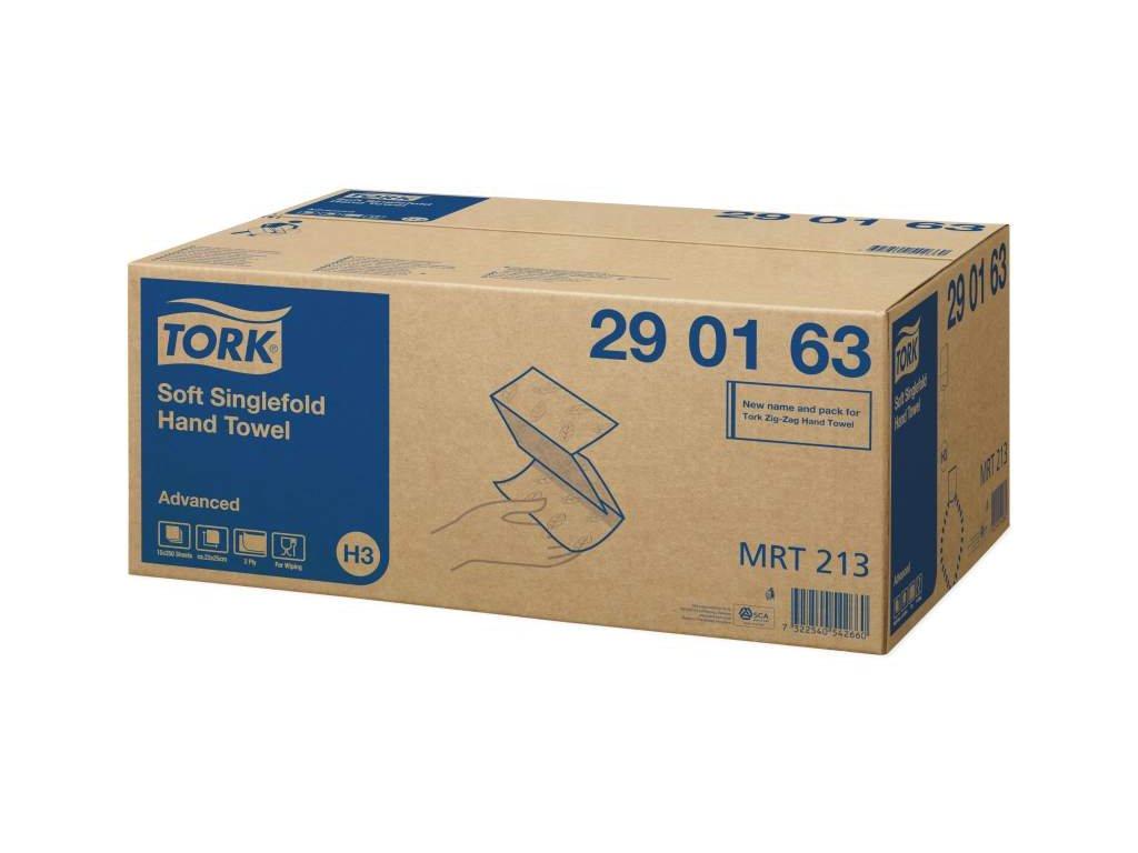 TORK H3 papírové ručníky bílé 2-vrstvé, 15x250ks