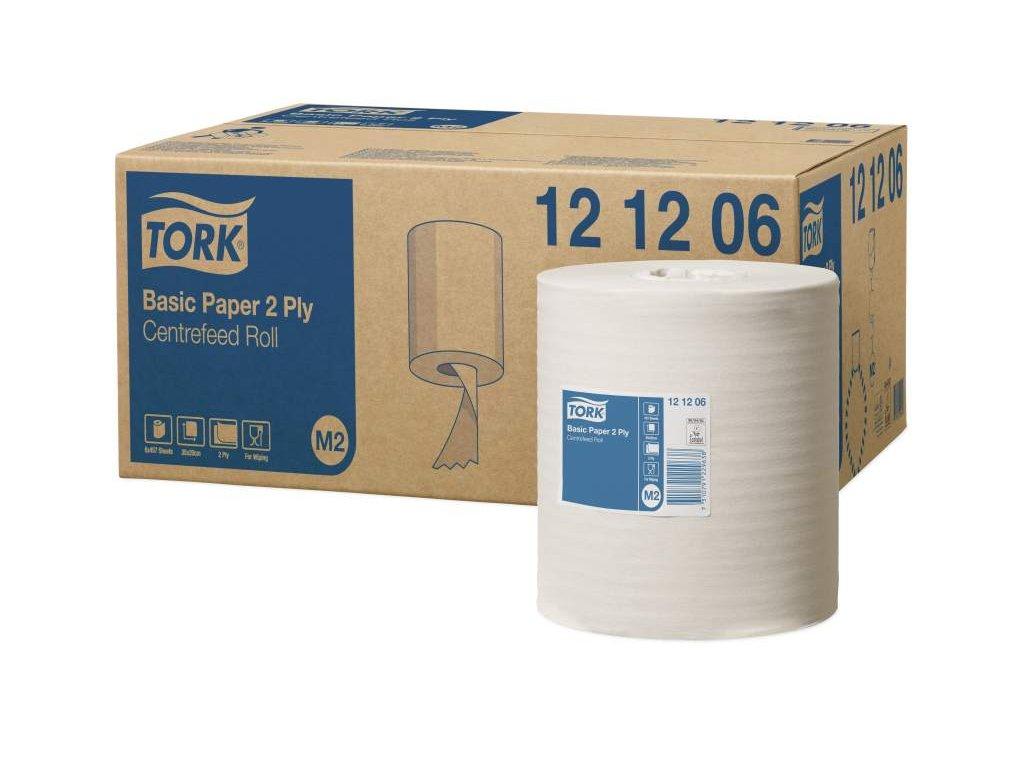 TORK M2 Basic papírová utěrka se středovým odvíjením 2-vrstvá 6 ks v bal