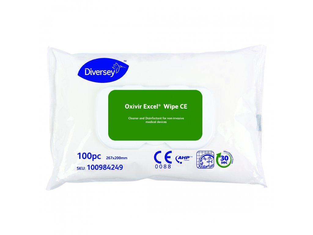 100984249 Oxivir Excel Wipe 100pc 100984249 CMYK 20x20cm