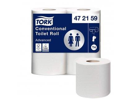 TORK T4 toaletní papír 2-vrstvý, 12 bal po 4 ks