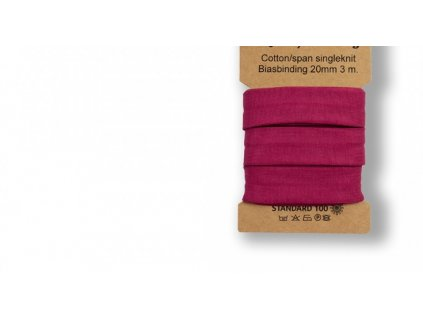 Bavlněný šikmý proužek 96% bavlny a 4% elastanu - BORDÓ