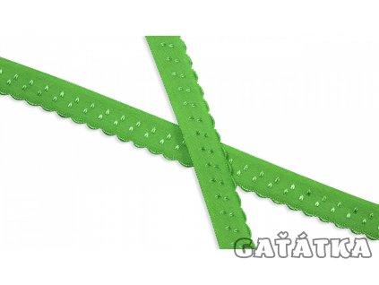Pruženka 20mm lemovací půlená - neon zelená