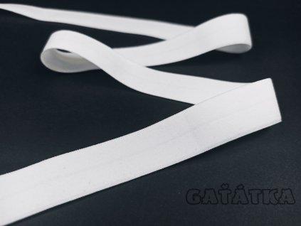 Lemovací půlené pruženky 20mm - Matná - bílá