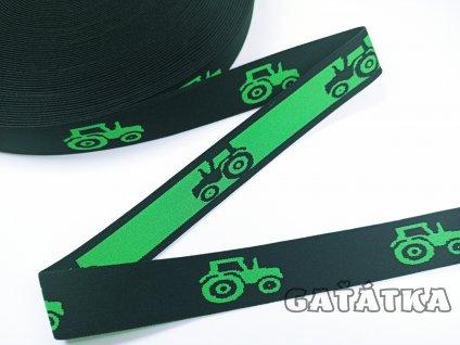 Pruženka do boxerek 30mm - TRAKTORY - zelená