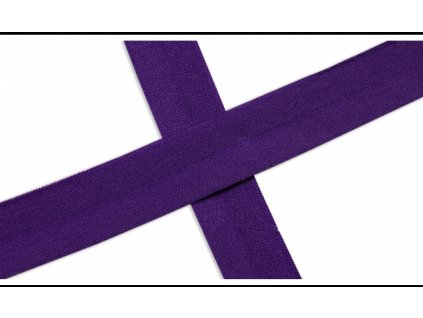 Lemovací půlené pruženky 20mm - Matná - fialová