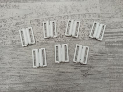 Plavkové zapínání kovové - 20mm - bílá