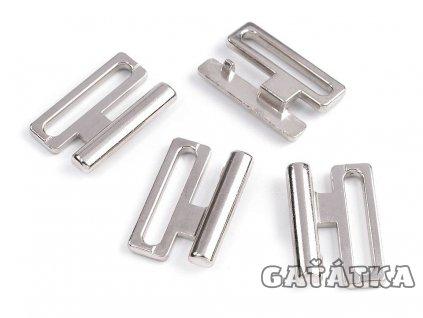 Plavkové zapínání kovové - 20mm - nikl