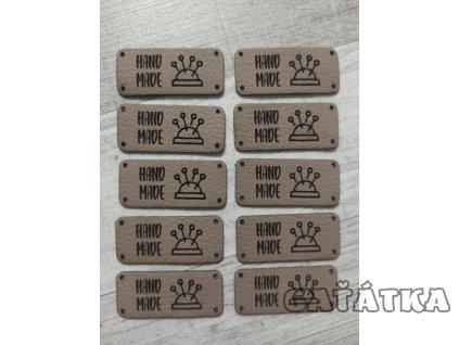 Koženkové štítky - 40x 17mm