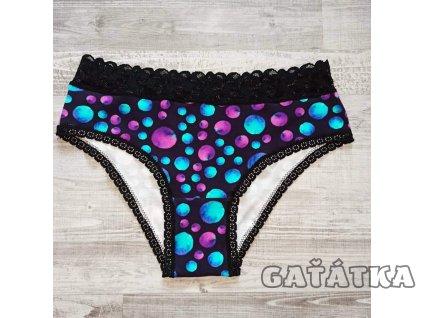Pružná krajka 15mm - černá