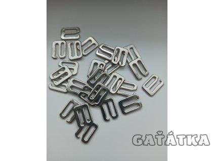 Háček ramínkový 10mm - kov - nikl