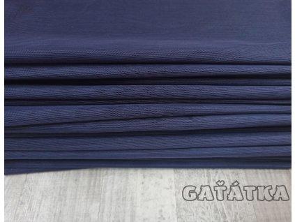 Pružný tyl - tmavě modrá - 50x150cm