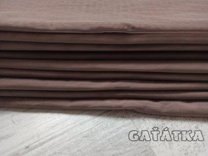 Pružný tyl - capuccino- 50x150cm