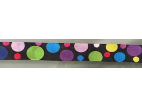 Galonová pruženka 30mm - barvená kolečka