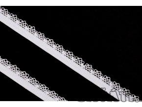 Prádlová pruženka ozdobná 11mm - bílá