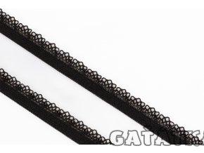 Prádlová pruženka ozdobná 11mm - černá